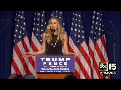 FULL: Lara Yunaska Trump at Donald Trump Greenville, NC Rally