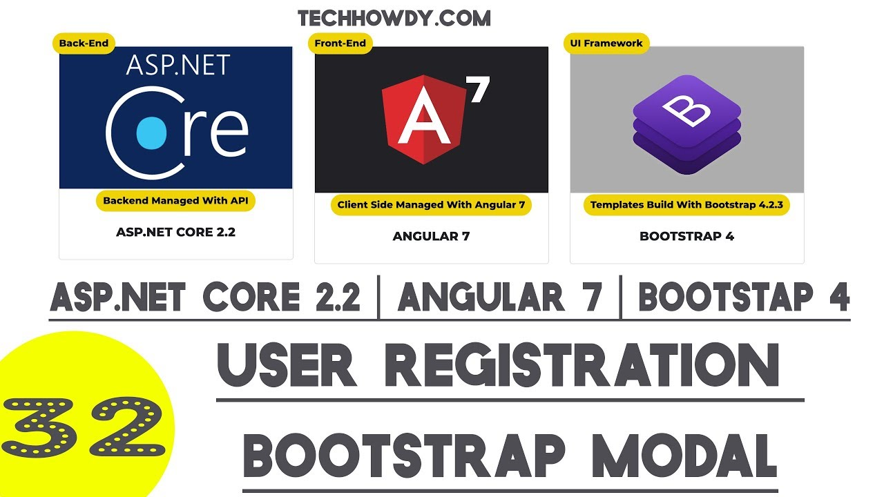 User Registration Angular 7 - Creating Bootstrap Modal Popup