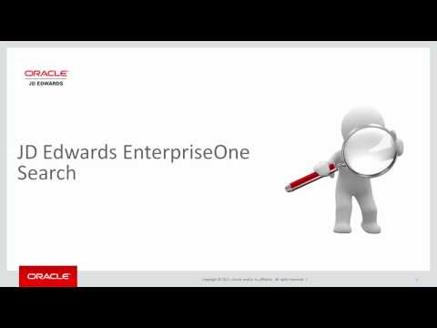 Introducing the JD Edwards EnterpriseOne Search