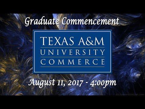 Graduate Ceremony 4:00pm August 11