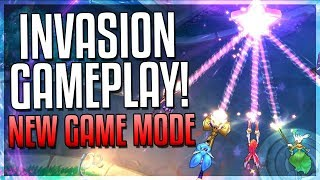 INVASION: NEW GAME MODE GAMEPLAY! 40x SYNDRA Q HERALD BOSS WTF?! - League of Legends