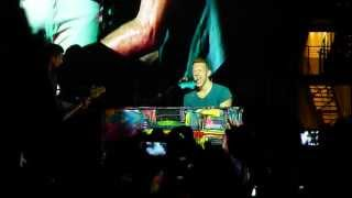 "Coldplay - ""Up in flames"" Live @ Turin (Italy)"