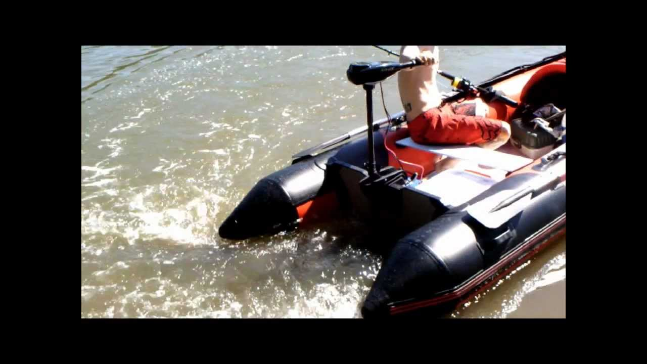 Inflatable Boat 3 3m 86lbs Thrust Trolling Motor Youtube