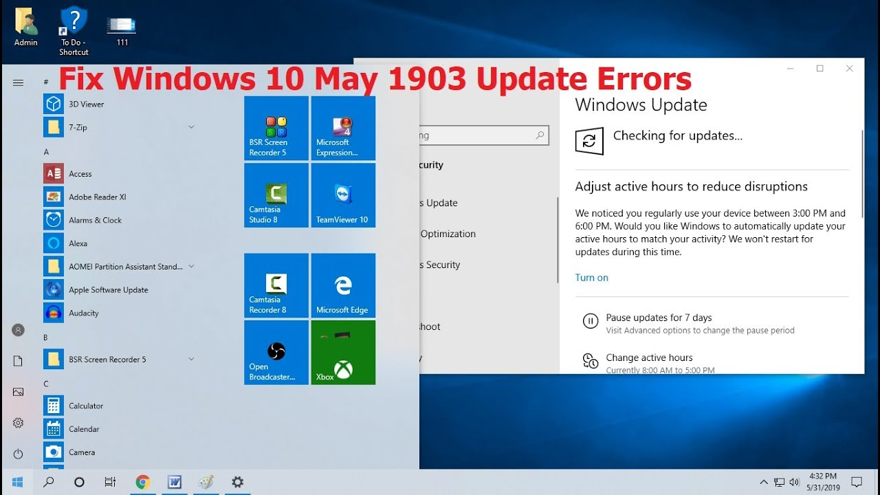 How to Fix All Windows 10 May 1903 Update Errors (2019)