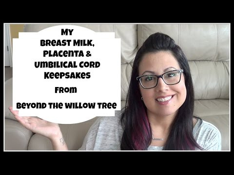 My Breast Milk, Placenta & Umbilical Cord Charms from Beyond The Willow Tree