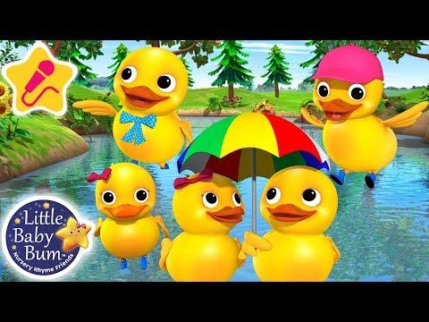 Cantec nou: Five Little Ducks | KARAOKE for Kids + More Nursery Rhymes & Kids Songs | Little Baby Bum