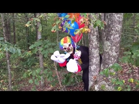 The legend of the scary creepy clown in the woods. New Halloween skit with Princess Ella