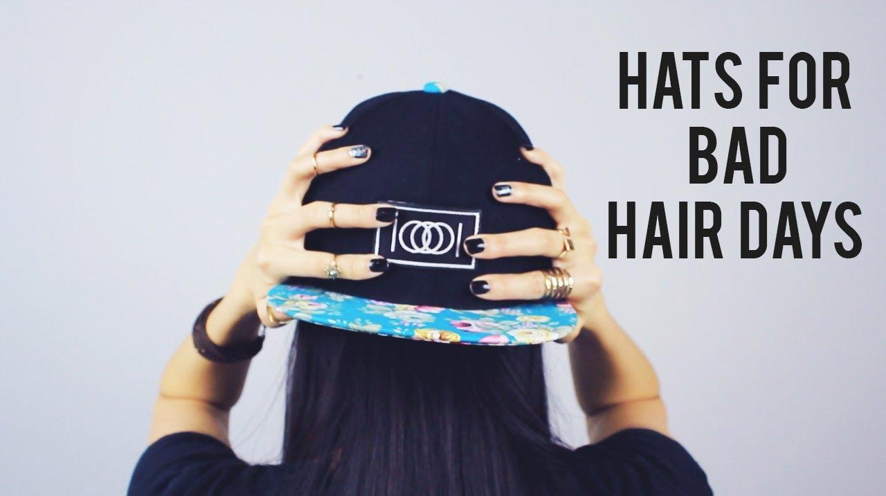 bad hair days: snapbacks & beanies | sarahhtrantv - youtube