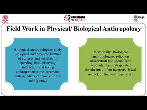 Demonstration of Field methods in Biological Anthropology