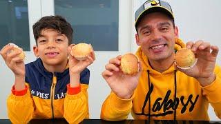 Jason makes cupcakes with Alex family fun
