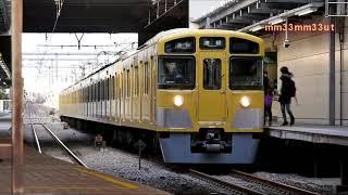 西武池袋線休日ダイヤ列車観察20200125乱れドラえもん50