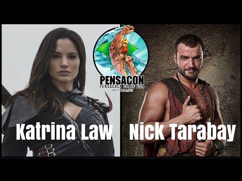 Arrow's Katrina Law and Spartacus' Nick Tarabay Pensacon 2015