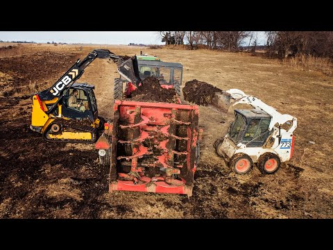 Loading Santa's Sleigh | Using Two Skid Loaders