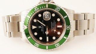Rolex SUBMARINER Oyster Perpetual Green Bezel Watch