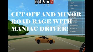 Roblox: Cut off and minor road rage with maniac driver!!