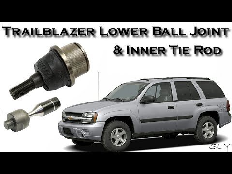 How To Step By Step Lower Ball Joint & Inner Tie Rod Replacement On Chevy Trailblazer