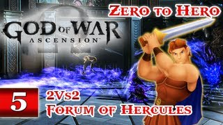God of War Ascension (PS3) Online Multiplayer Gameplay - Part 5: ZERO TO HERO! - 10 Kills 2 Deaths | Forum of Hercules - Team Favor of the Gods 2v2 WIN GoW