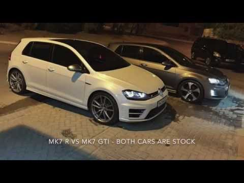mk7 golf r vs mk7 gti youtube. Black Bedroom Furniture Sets. Home Design Ideas