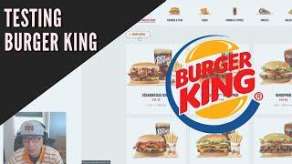 Testing the Burger King website | Exploratory Testing | QA