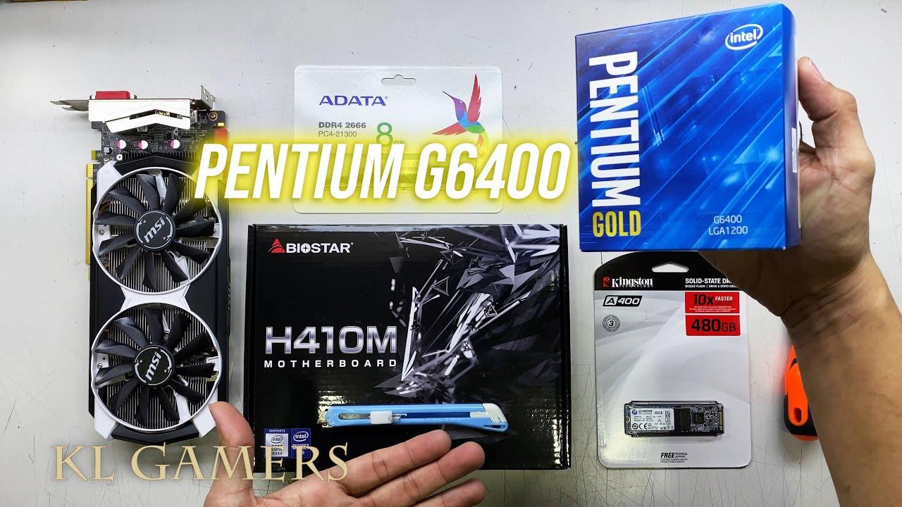 intel Pentium Gold G6400 Biostar H410M msi GTX 970 4GDDR5 Budget Gaming PC Build Benchmark - YouTube