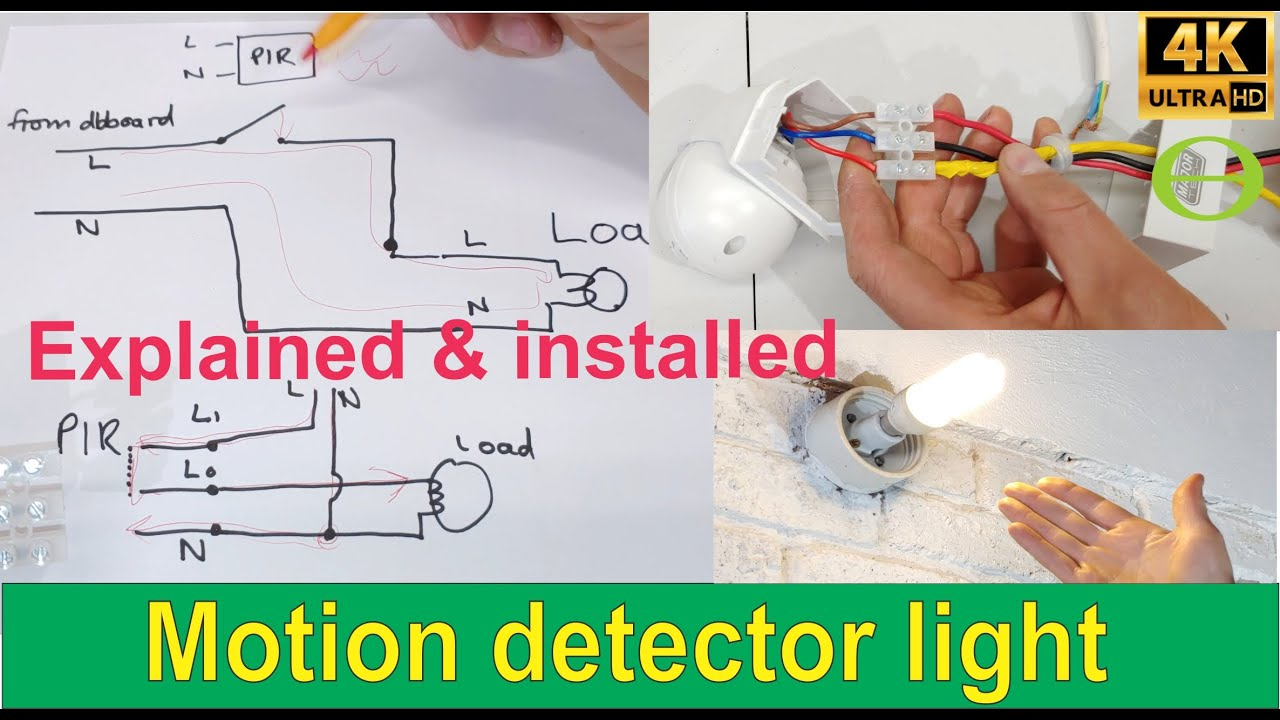 How To Install An Infrared Motion Detector Sensor For A Light