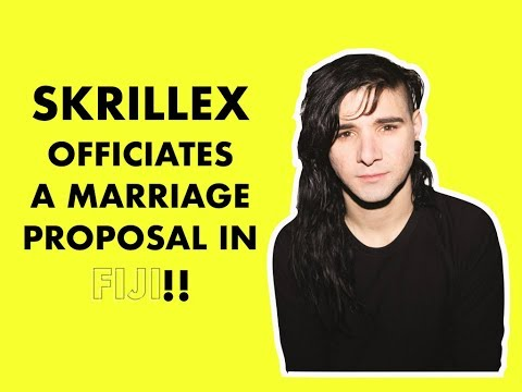 Skrillex officiates a marriage proposal at Your Paradise in Fiji