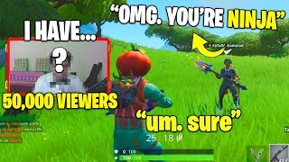 I Pretended I'm a Famous Streamer... he thought i was NINJA