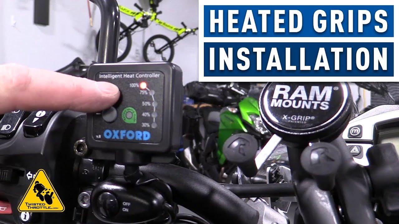 oxford heaterz heated motorcycle grips full installation twistedthrottle com [ 1280 x 720 Pixel ]
