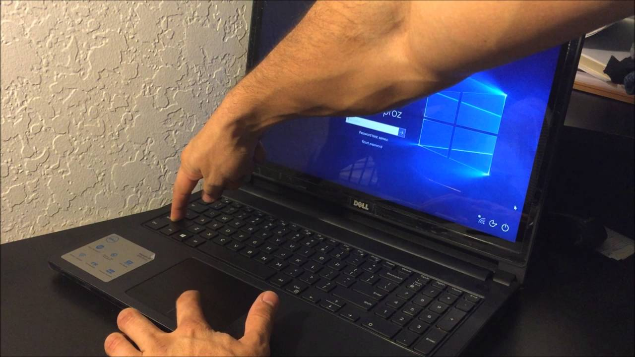 laptop factory reset dell