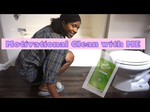 MOTIVATIONAL CLEAN WITH ME // BATHROOM