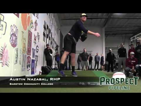 Austin Nazabal Prospect Video, RHP, Barstow Community College (front)