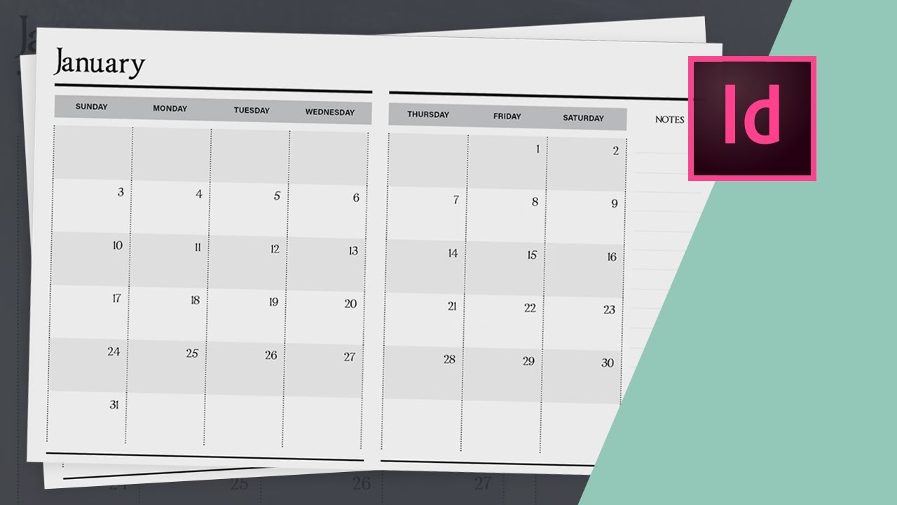 Calendar Typography Xp : How to design a planner in indesign calendar