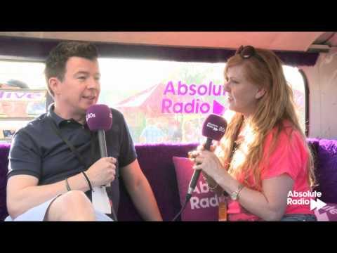 Carol Decker interviews Rick Astley in a campervan