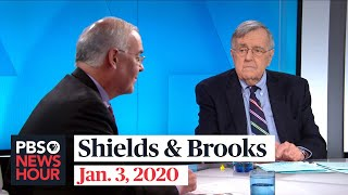 Shields and Brooks on Iran general's killing, 2020 Democrats' fundraising
