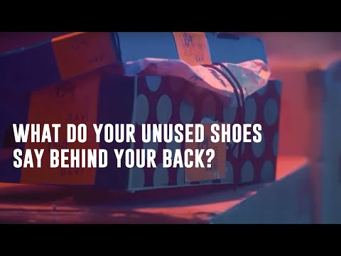 What happens in your shoe rack behind your back?