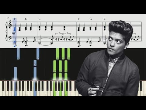 When I Was Your Man Bruno Mars Piano Tutorial + Chords
