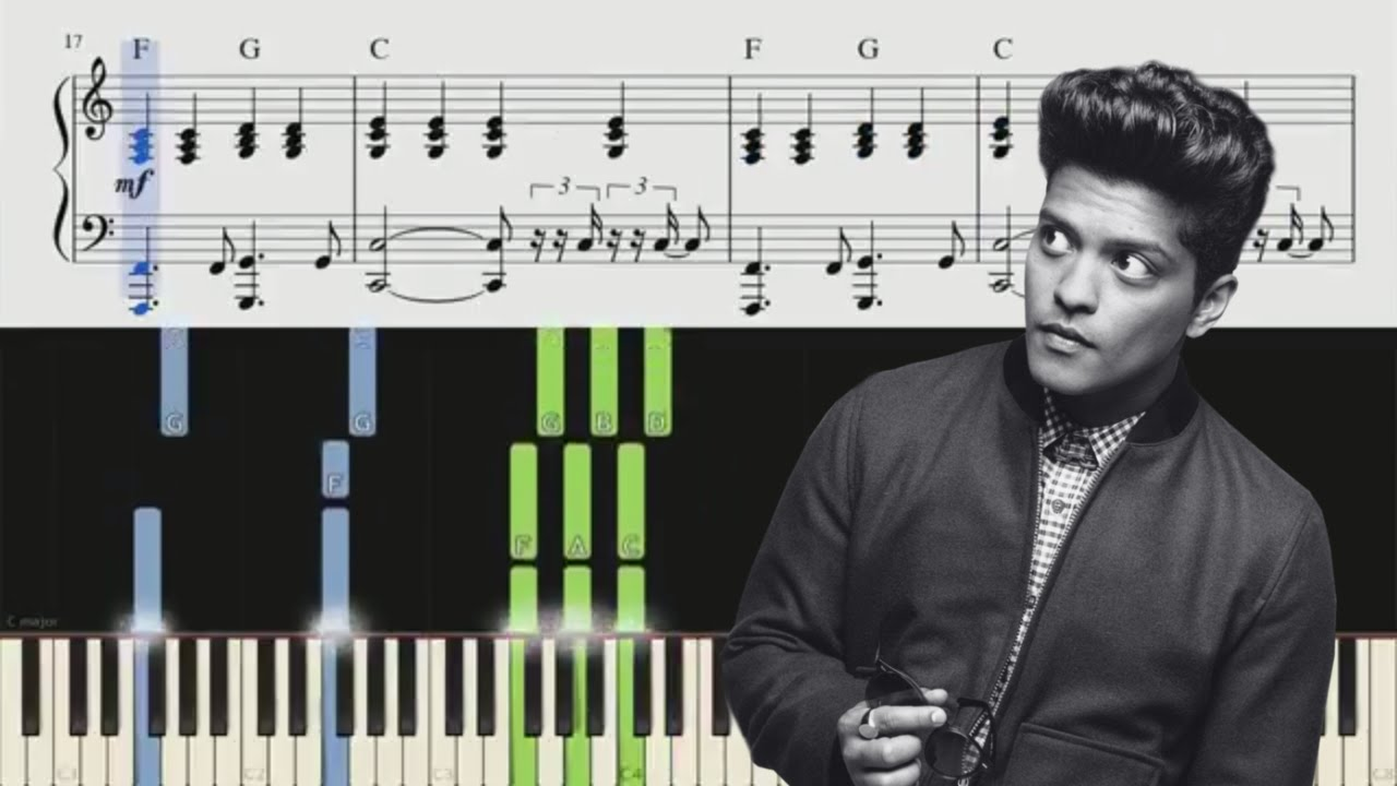When I Was Your Man Bruno Mars Piano Tutorial Chords Youtube