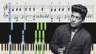 When I Was Your Man (Bruno Mars) Piano Tutorial + Chords