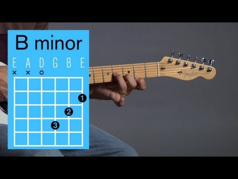 How To Play A B Minor Open Chord Guitar Lessons Youtube