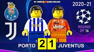 Porto vs Juventus 2-1 • Champions League 2021 • All Goals Highlights Porto Juve Lego Football