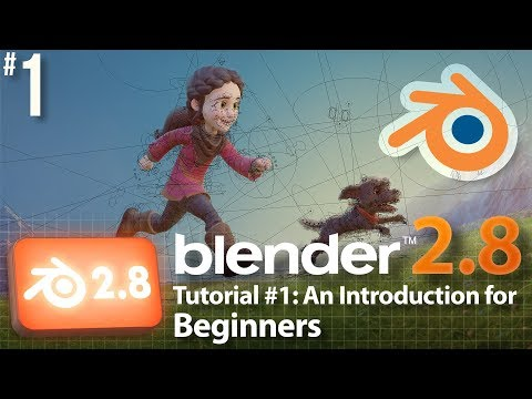 Blender 2.8 Tutorial #1: Intro for Beginners #b3d