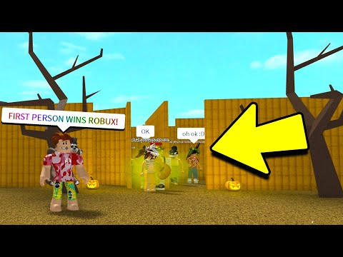 ESCAPE THE HAUNTED CORN MAZE TO WIN ROBUX! (Roblox)