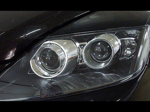 Тюнинг фар Mazda CX-7 - замена галогеновых линз на биксеноновые и установка гибких ходовых огней