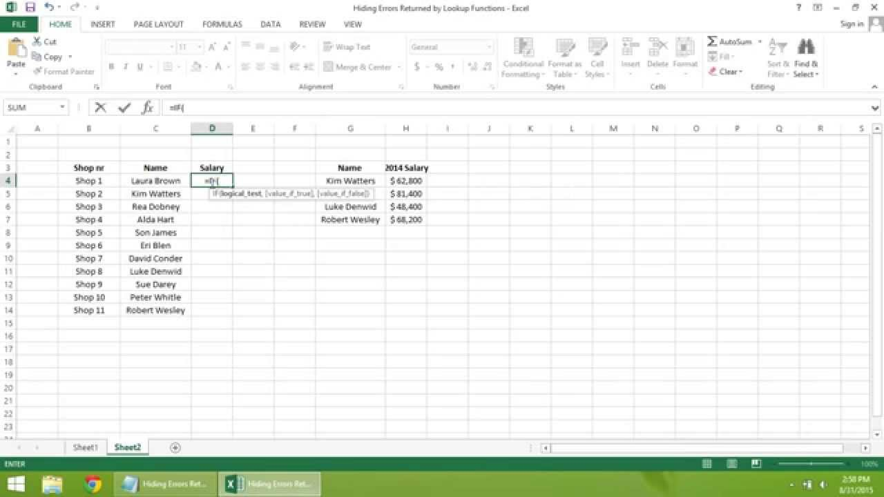 excel tutorial how to hide errors returned by lookup excel 2013 tutorial how to hide errors returned by lookup functions