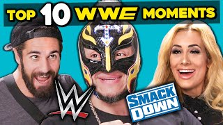 Baixar WWE Superstars React To Top 10 WWE Smackdown Moments Of All Time