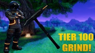 FORTNITE TIER 100 GRIND! TRUSTY NO.2 AND DARK VOYAGER WE HAVE ALREADY!!! (FORTNITE BATTLE ROYALE)