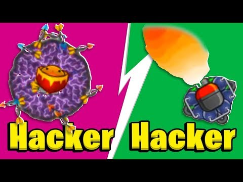 Bloons TD Battles - HACKER VS HACKER - The Most OP Hack Ever | JeromeASF