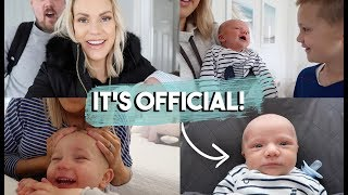 WE MADE IT OFFICIAL | REGISTERING OUR NEWBORN BABY
