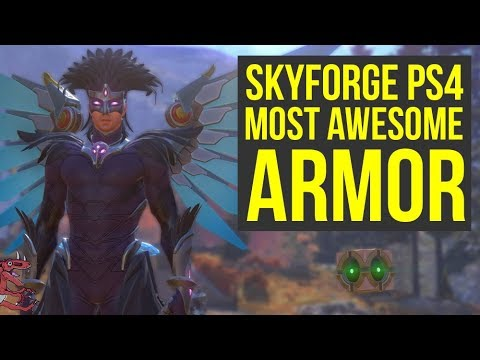 Skyforge PS4 Gameplay - MOST AWESOME ARMOR + HIGH LEVEL SKYFORGE GAMEPLAY &  Giveaway