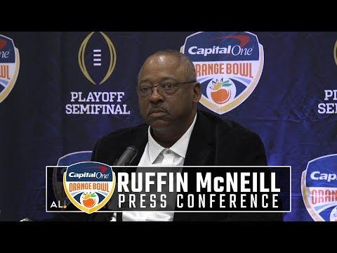 Oklahoma defensive coordinator Ruffin McNeill on defending Alabama